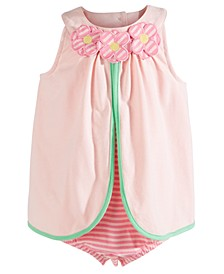 Baby Girls Cotton Flower Sunsuit, Created For Macy's