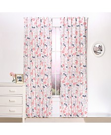 "The Peanutshell 42"" x 84"" Floral Print Blackout Curtain Set"