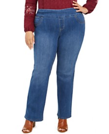 Style & Co Plus Size Ella Pull-On Bootcut Jeans, Created For Macy's