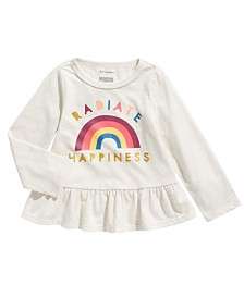 First Impressions Baby Girls Happiness Peplum T-Shirt, Created For Macy's