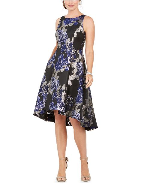 Adrianna Papell Printed Jacquard Dress