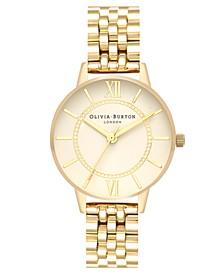 Women's Wonderland Gold-Tone Stainless Steel Bracelet Watch 30mm
