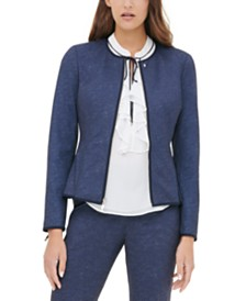 Tommy Hilfiger Zippered Collarless Jacket