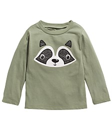 First Impressions Baby Boys Cotton Long-Sleeve Raccoon T-Shirt, Created for Macy's