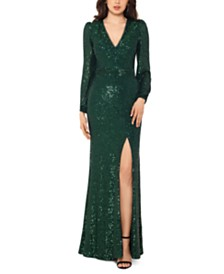 XSCAPE Sequined Gown