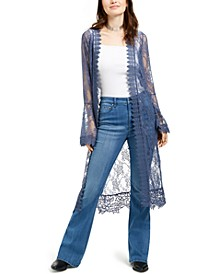 Polly & Esther Juniors' Lace Duster Top
