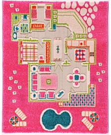 Playhouse Pink 3D Play Rug