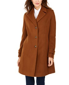 Calvin Klein Single-Breasted Walker Coat