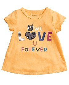 First Impressions Baby Girls Cotton Owl Love U T-Shirt, Created For Macy's