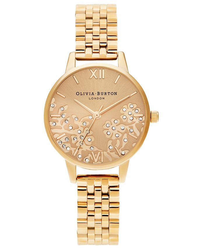 Olivia Burton - Women's Gold-Tone Stainless Steel Bracelet Watch 30mm