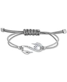 Pavé S-Hook Cord Slider Bracelet