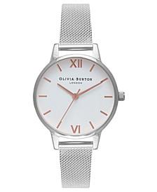Women's Stainless Steel Mesh Bracelet Watch 30mm