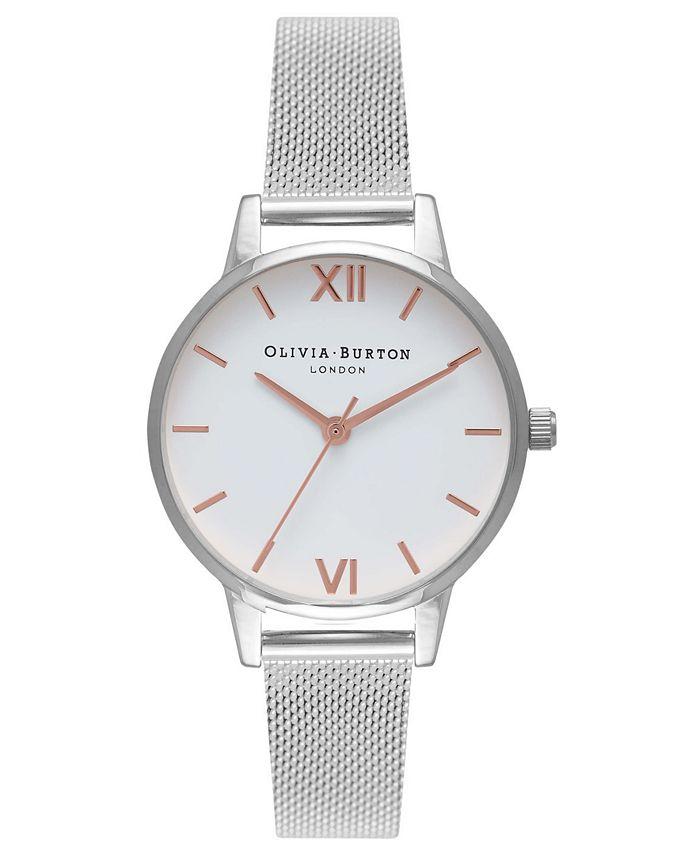 Olivia Burton - Women's Stainless Steel Mesh Bracelet Watch 30mm