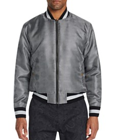 Tallia Men's Slim-Fit Houndstooth Reversible Bomber
