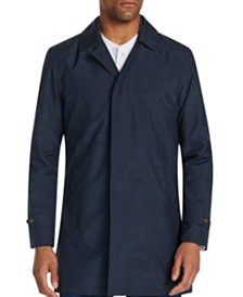 Tallia Men's Slim-Fit  Paisley Packable Trench Coat