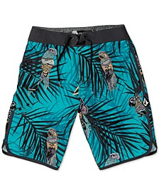 Big Boys Parrot-Print Swim Trunks