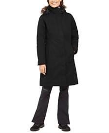 Marmot Chelsea Hooded Faux-Fur-Trim Coat