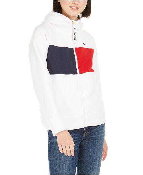 Tommy Hilfiger  Hooded Fleece Colorblocked Jacket