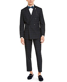 I.N.C. Windowpane Cropped Suit Separates, Created For Macy's