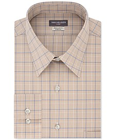 Men's Flex Classic/Regular-Fit Stretch Wrinkle-Free Check Dress Shirt