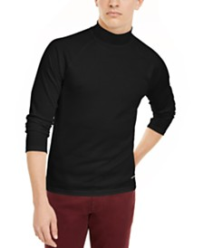 I.N.C. Men's Ribbed Mock Neck Sweater, Created For Macy's