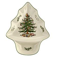 """Christmas Tree 14"""" Tree Dip Dish"""