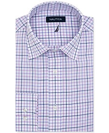 Nautica Men's Classic-Fit Motion-Ease Collar Plaid Dress Shirt