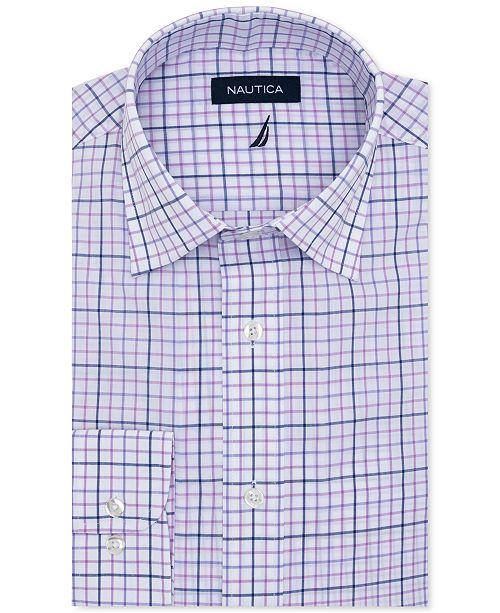 Nautica Men's Classic-Fit Motion-Ease Collar Plaid Dress Shirt
