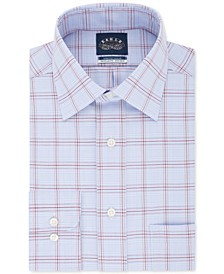 Men's Classic/Regular Fit Non-Iron Stretch Collar Check Dress Shirt