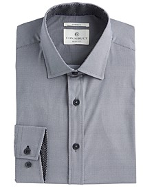 Con.Struct Men's Slim-Fit PerFormance Stretch Neat-Print Dress Shirt, Created For Macy's