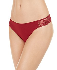 INC Women's Lace-Trim Thong Underwear, Created for Macy's