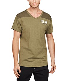 Men's Two-Tone V-Neck T-Shirt, Created for Macy's