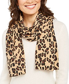 Leopard-Print Cashmere Scarf, Created For Macy's