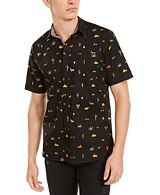 Men's Hieroglyphics Print Shirt, Created For Macy's