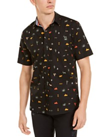 American Rag Men's Hieroglyphics Print Shirt, Created For Macy's