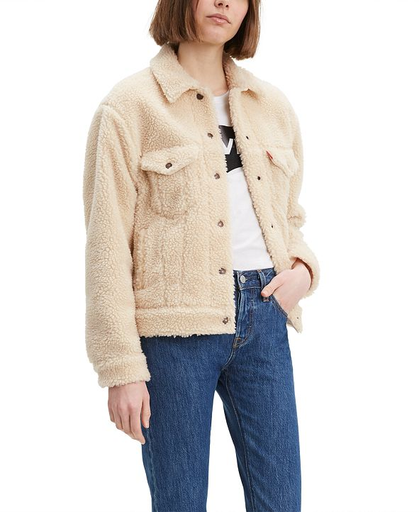 Levi's Women's Cotton Fleece Trucker Jacket
