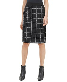 Printed Sweater Pencil Skirt