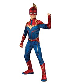 BuySeasons Little and Big Girl's Captain Marvel Hero Suit Child Costume