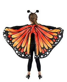 Big Girl's Monarch Butterfly Cape Child Costume