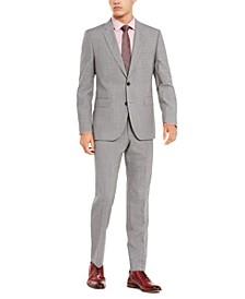 Men's Slim-Fit Medium Gray Check Suit Separates