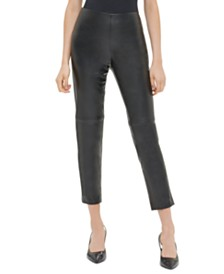 Calvin Klein Faux-Leather Skinny Pants