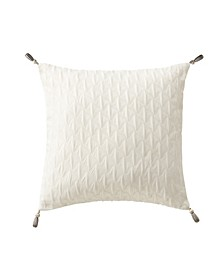 "CLOSEOUT! Aidan 16"" X 16"" Tassels Square Decorative Pillow"