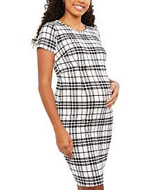 Motherhood Maternity Plaid Dress