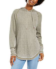 American Rag Juniors' Textured Pullover Hoodie, Created For Macy's