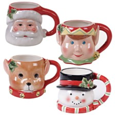 Certified International Believe 4-Pc. 3-D Figural Mugs