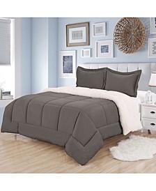 Sherpa 3-Pc. Full/Queen Comforter Set