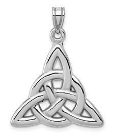 Trinity Pendant in 14k White Gold