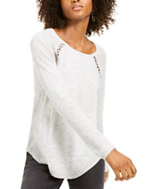 I.N.C. Peekaboo Grommet Sweater, Created For Macy's