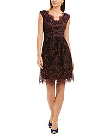 Eyelash Floral-Lace Dress