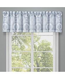 Claremont Blue Window Straight Valance
